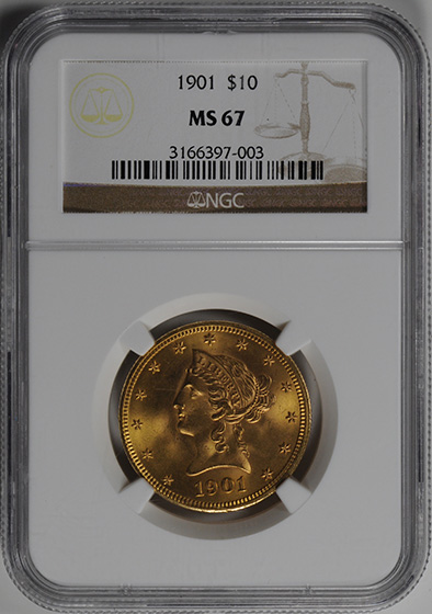 Picture of 1901 LIBERTY HEAD $10 MS67