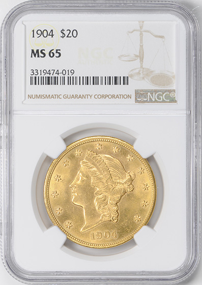 Picture of 1904 LIBERTY HEAD $20 MS65