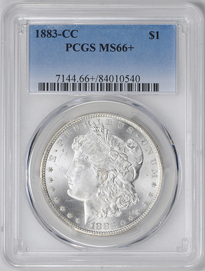 Picture of 1883-CC MORGAN S$1 MS66+