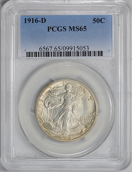 Picture of 1916-D WALKING LIBERTY 50C MS65