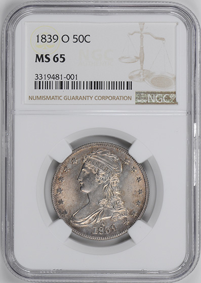 Picture of 1839-O CAPPED BUST 50C MS65