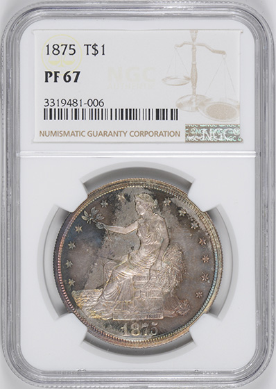 Picture of 1875 TRADE T$1 PR67