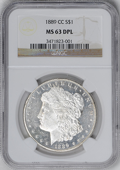 Picture of 1889-CC MORGAN S$1 MS63 DMPL