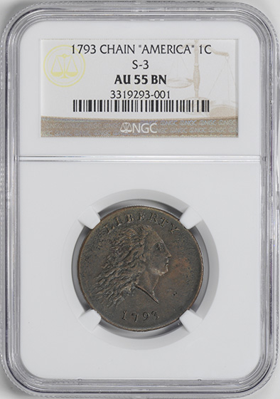 Picture of 1793 CHAIN 1C, AMERICA AU55