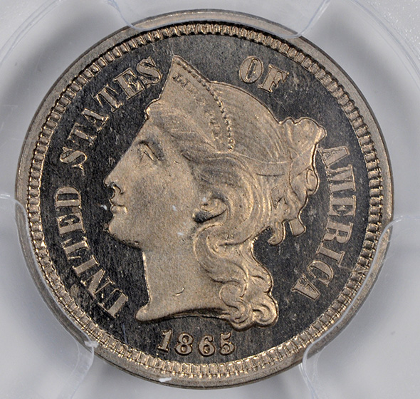 Picture of 1865 NICKEL 3CN PR66 Cameo