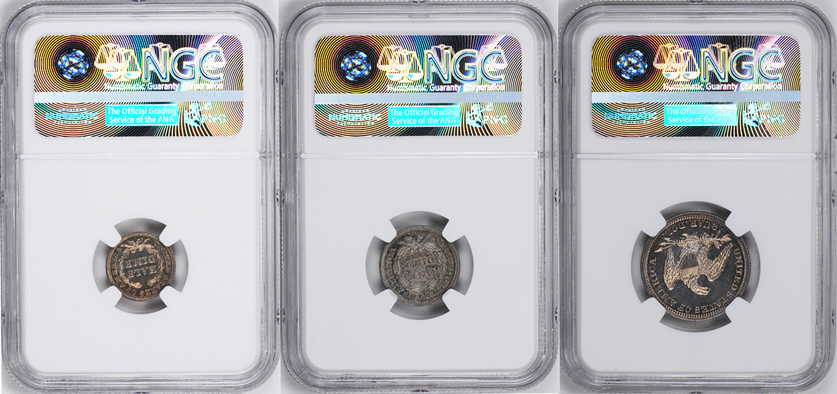 Picture of 1846 PROOF SET, 5-COIN SILVER SET PRRA