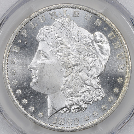 Picture of 1882-CC MORGAN S$1 MS66 Proof Like