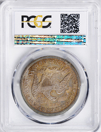 Picture of 1872 LIBERTY SEATED S$1, MOTTO PR66