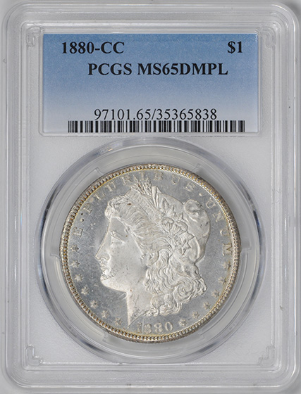 Picture of 1880-CC MORGAN S$1 MS65 DMPL