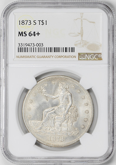 Picture of 1873-S TRADE T$1 MS64+