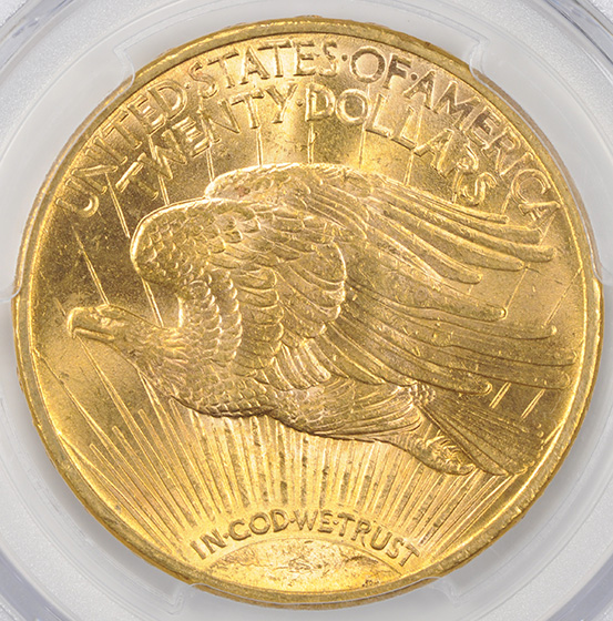 Picture of 1914-S ST. GAUDENS $20 MS65