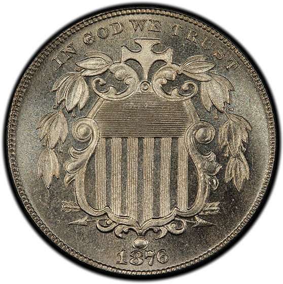 Picture of 1876 SHIELD 5C PR67+ Cameo