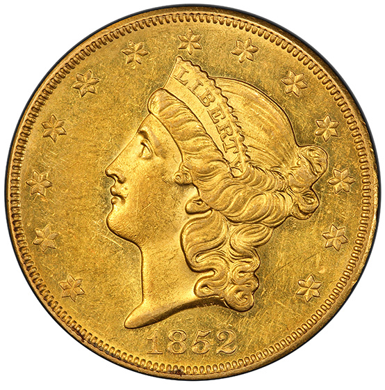 Picture of 1852-O LIBERTY HEAD $20 MS60