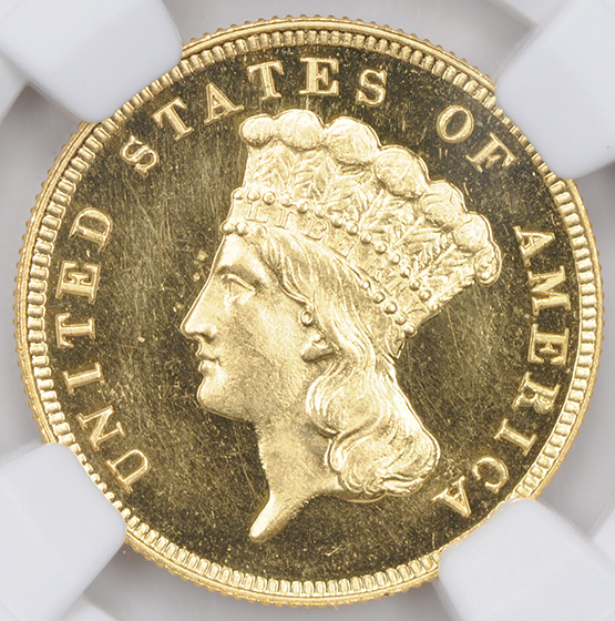 Picture of 1889 INDIAN PRINCESS $3 PR65+ Deep Cameo