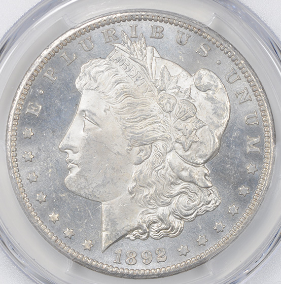 Picture of 1892-CC MORGAN S$1 MS63 Proof Like