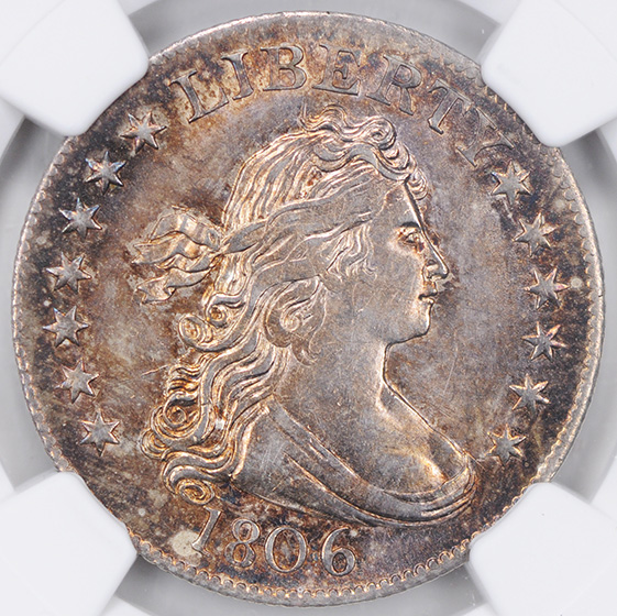 Picture of 1806 DRAPED BUST 25C, LARGE EAGLE MS64