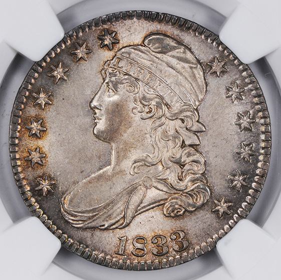 Picture of 1833 CAPPED BUST 50C, LETTERED EDGE MS66