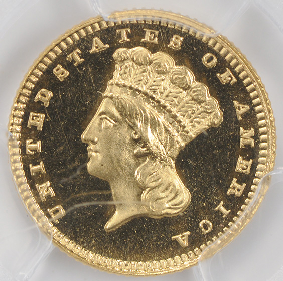 Picture of 1886 GOLD G$1, TYPE 3 PR66+ Cameo