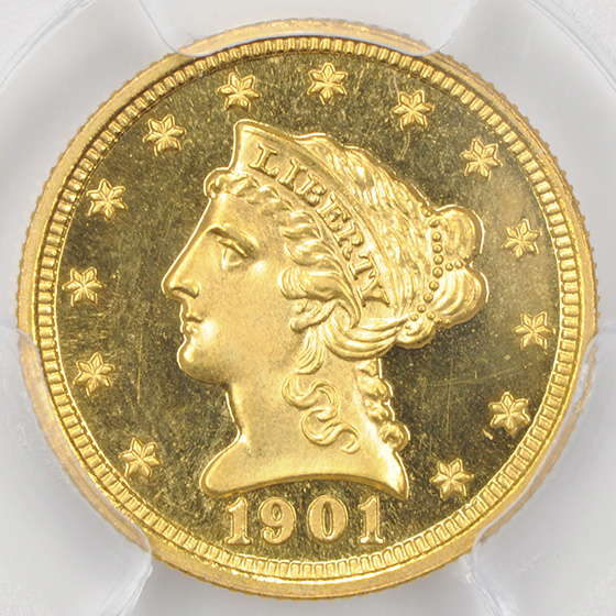 Picture of 1901 LIBERTY HEAD $2.5 PR66 Deep Cameo