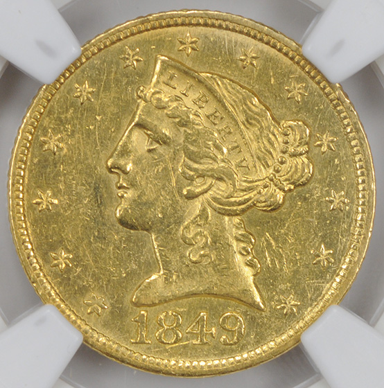 Picture of 1849-C LIBERTY $5 MS61