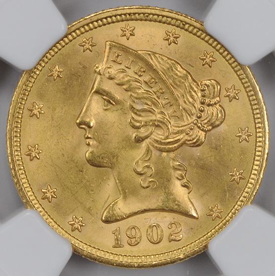 Picture of 1902 LIBERTY $5 MS65