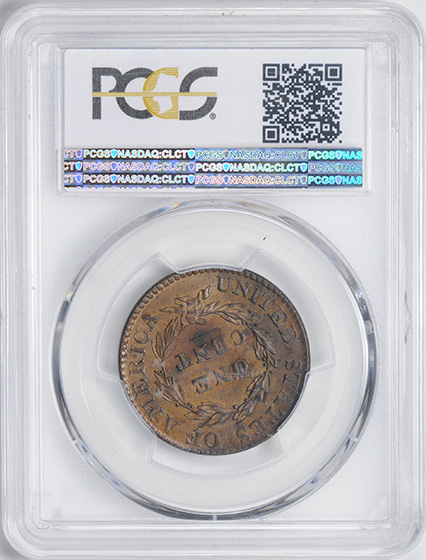 Picture of 1822 CORONET HEAD 1C MS63 Brown