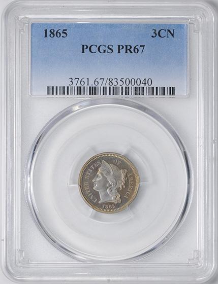Picture of 1865 NICKEL 3CN PR67