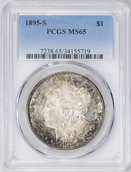 Picture of 1895-S MORGAN S$1 MS65