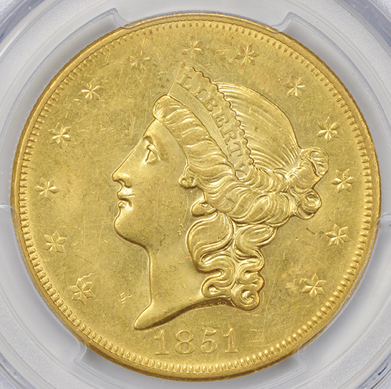 Picture of 1851-O LIBERTY HEAD $20 MS61
