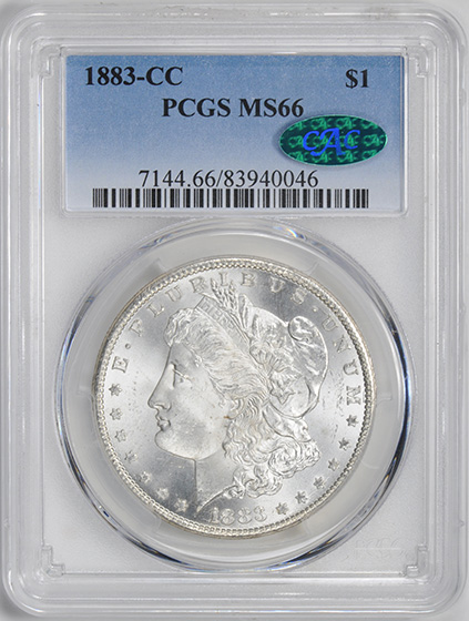 Picture of 1883-CC MORGAN S$1 MS66
