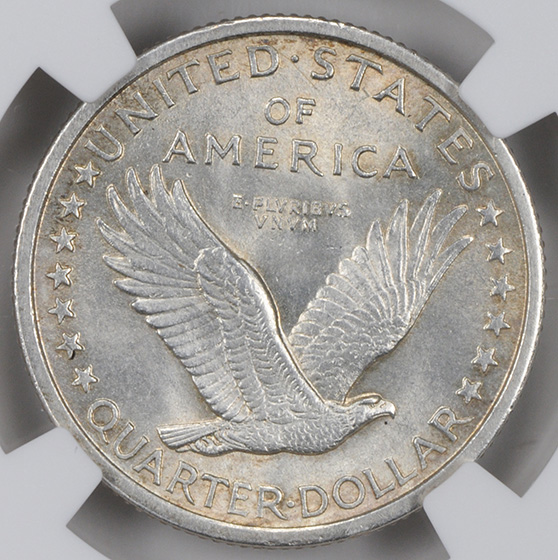 Picture of 1916 STANDING LIBERTY 25C, STANDING LIBERTY MS62 Full Head