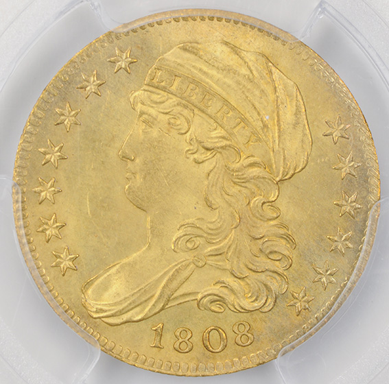 Picture of 1808 CAPPED BUST $5 MS65