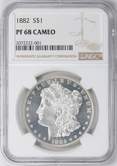 Picture of 1882 MORGAN S$1 PR68 Cameo