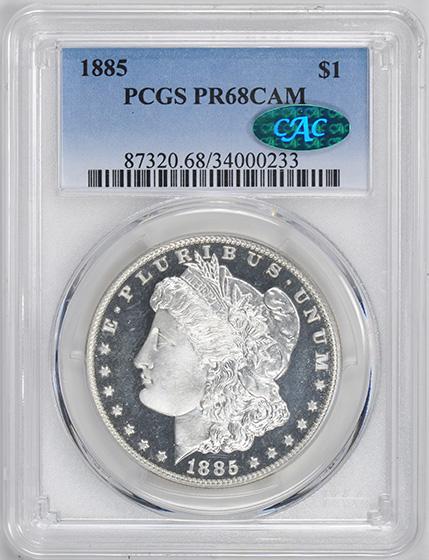 Picture of 1885 MORGAN S$1 PR68 Cameo