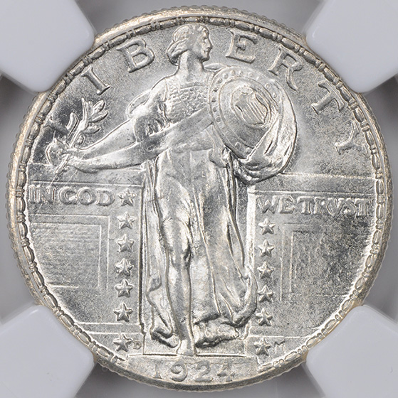 Picture of 1924-D STANDING LIBERTY 25C MS65 Full Head