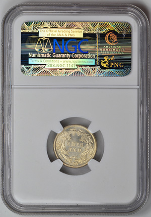 Picture of 1860 LIBERTY SEATED 10C, LEGEND MS67