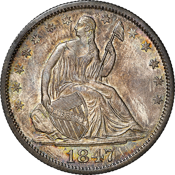 Picture of 1847-O LIBERTY SEATED 50C, NO MOTTO MS66