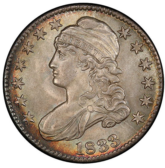 Picture of 1833 CAPPED BUST 50C MS66