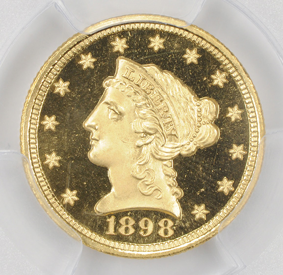 Picture of 1898 LIBERTY HEAD $2.5 PR68 Deep Cameo