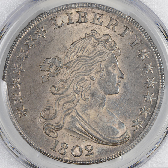 Picture of 1802 DRAPED BUST $1 MS63+