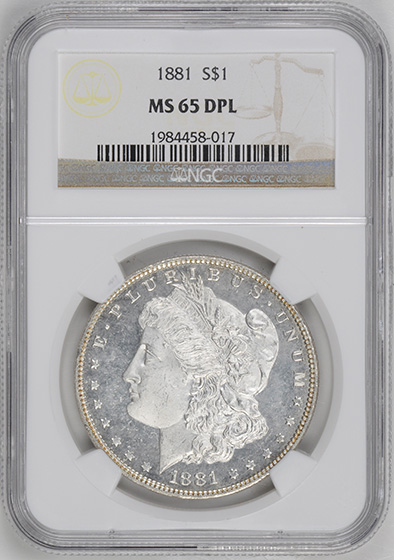 Picture of 1881 MORGAN S$1 MS65 DMPL