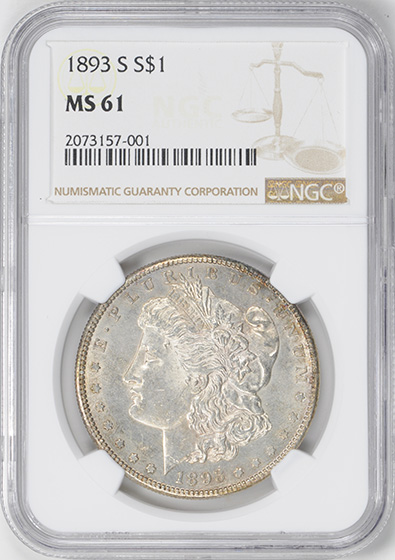 Picture of 1893-S MORGAN S$1 MS61