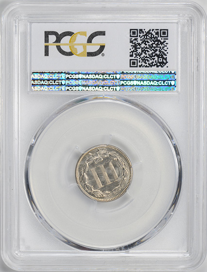 Picture of 1870 NICKEL 3CN MS66+