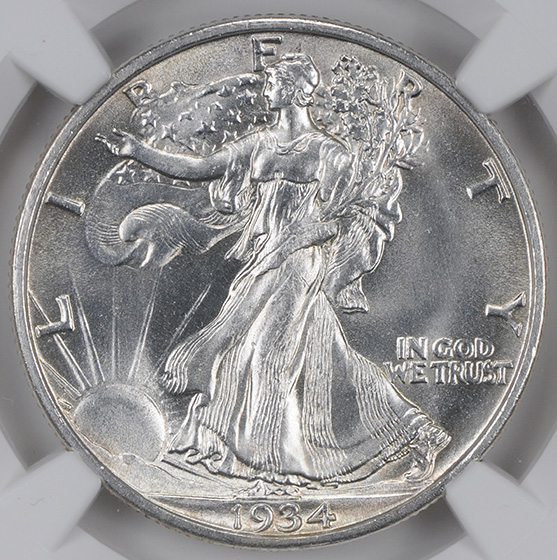 Picture of 1934-S WALKING LIBERTY 50C MS66