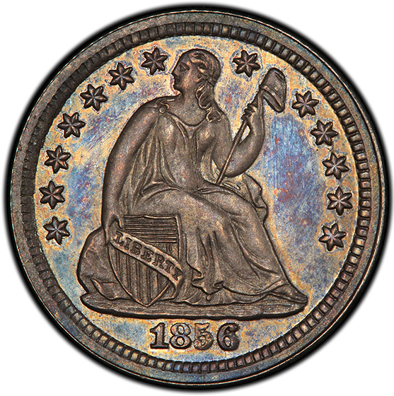 Picture of 1856 LIBERTY SEATED H10C, DRAPERY PR65