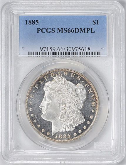 Picture of 1885 MORGAN S$1 MS66 DMPL