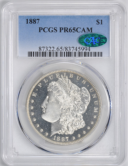 Picture of 1887 MORGAN S$1 PR65 Cameo