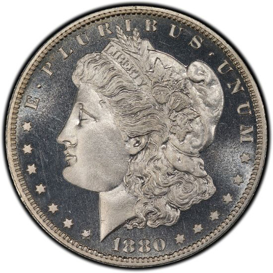 Picture of 1880 MORGAN S$1 PR67 Cameo