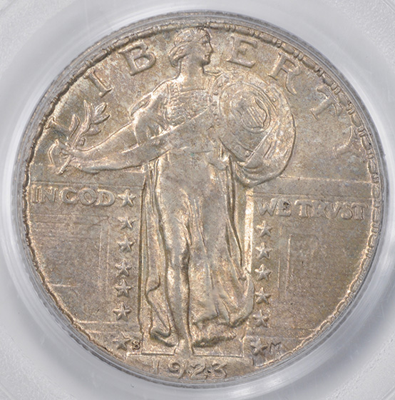 Picture of 1923-S STANDING LIBERTY 25C MS65 Full Head