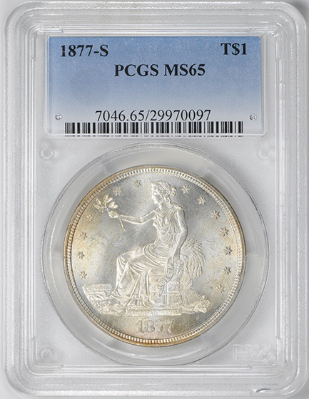 Picture of 1877-S TRADE T$1 MS65